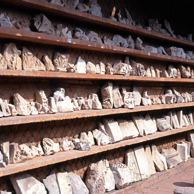 """Roman artefacts at Ostia, Rome"" stock image"