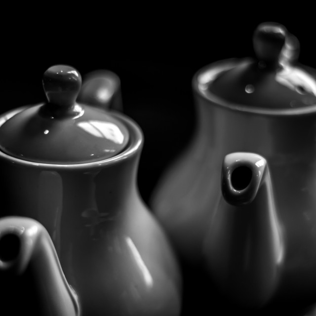 """Teapots"" stock image"