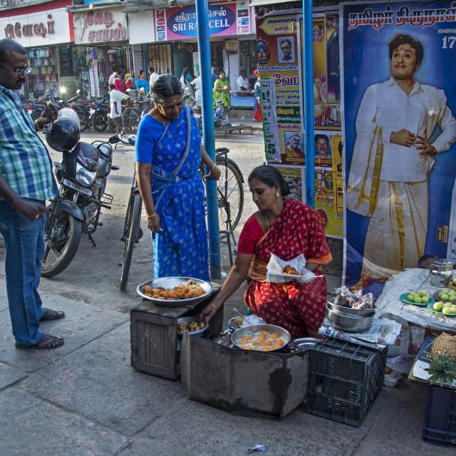 """MADURAI STREET LIFE"" stock image"
