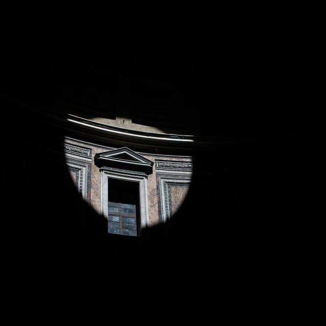 """Pantheon light from oculus"" stock image"