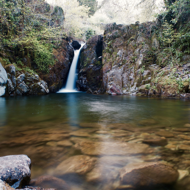 """""""Falls of Tranquility"""" stock image"""