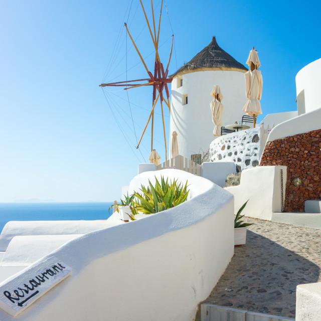 """Architecture on the island of Santorini, Greece"" stock image"