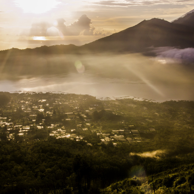 """""""Bali sunrise..."""" stock image"""