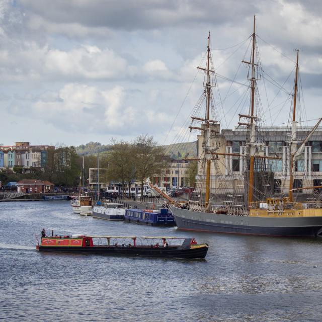"""Bristol's Floating Harbour"" stock image"