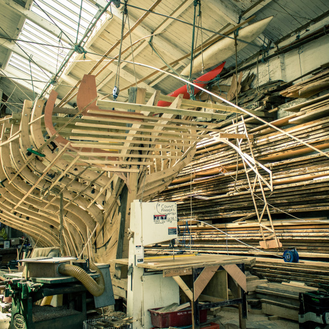 """""""Boat Building"""" stock image"""