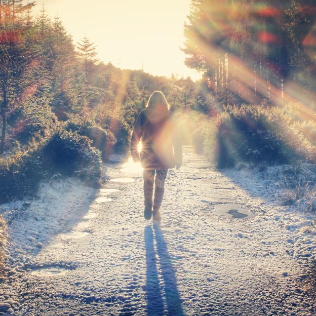"""Winter walks"" stock image"