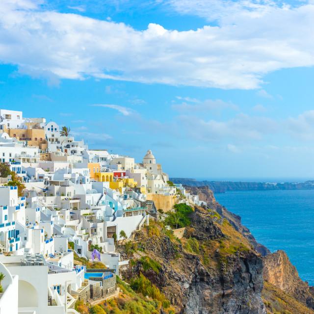 """Landscape Santorini Island, Fira, Cyclades, Greece"" stock image"