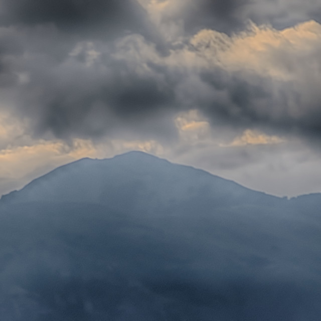"""""""clouds over mountain"""" stock image"""