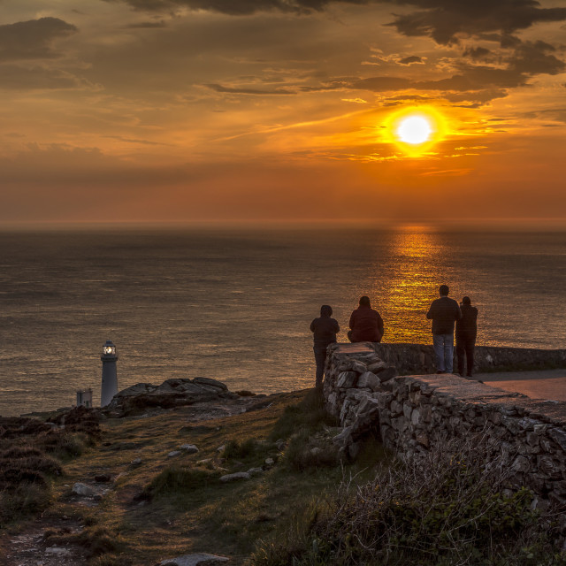 """Sunset at South Stack Anglesey"" stock image"