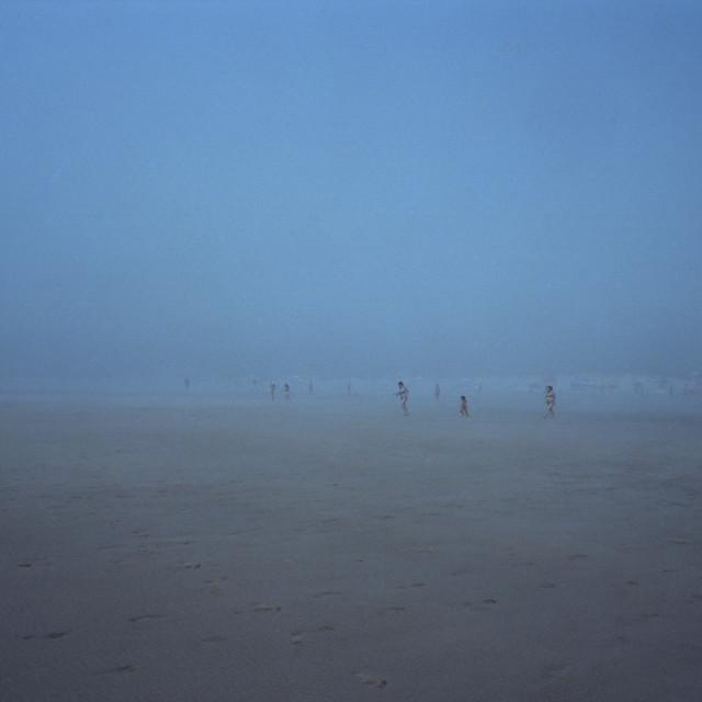 """Foggy beach"" stock image"