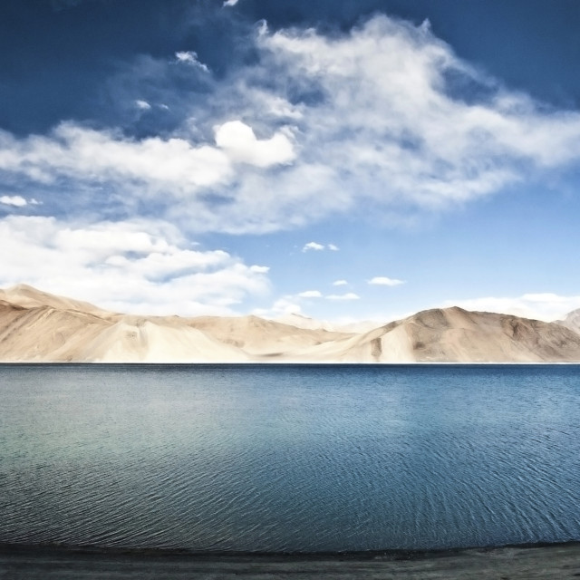 """Lake Pangong, India"" stock image"