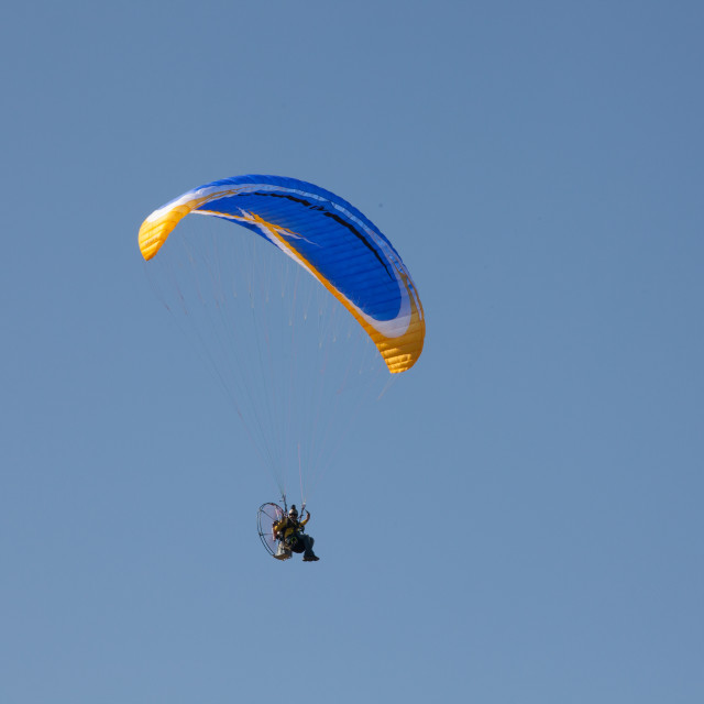 """Powered Paraglider"" stock image"