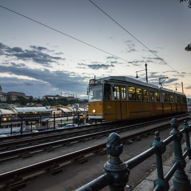"""Budapest tram"" stock image"