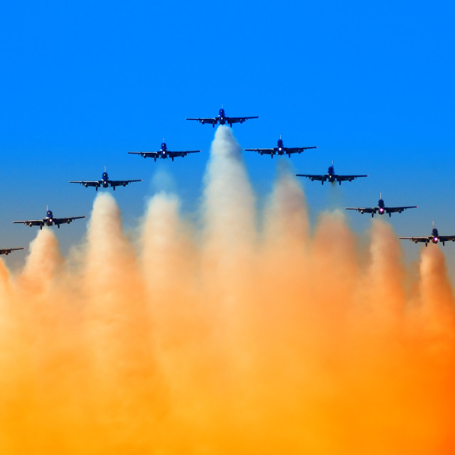 """aircraft in formation"" stock image"