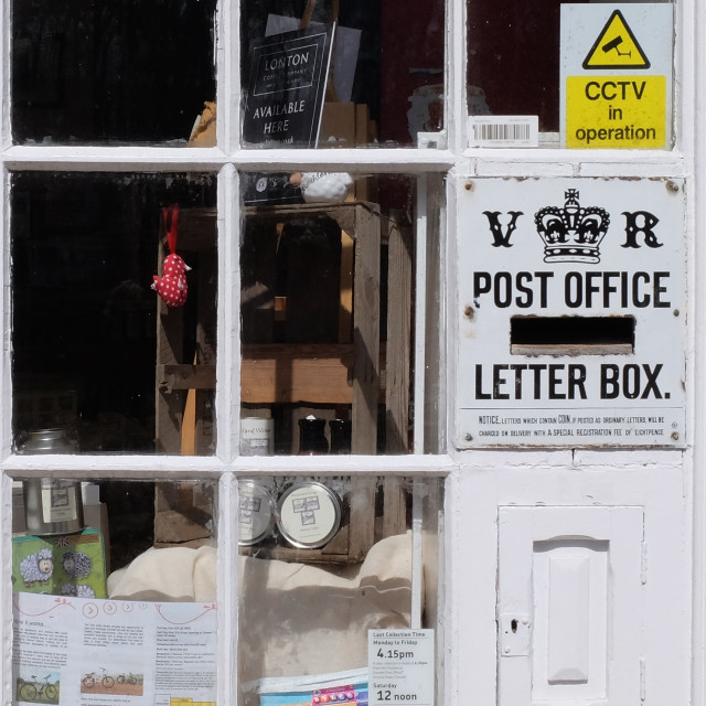 """The Post Office window"" stock image"