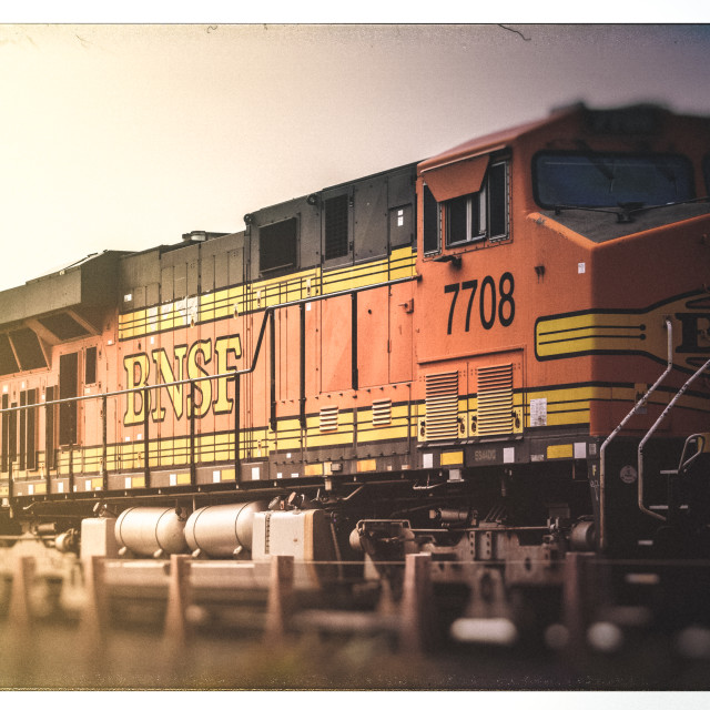 """BNSF Freight Train"" stock image"