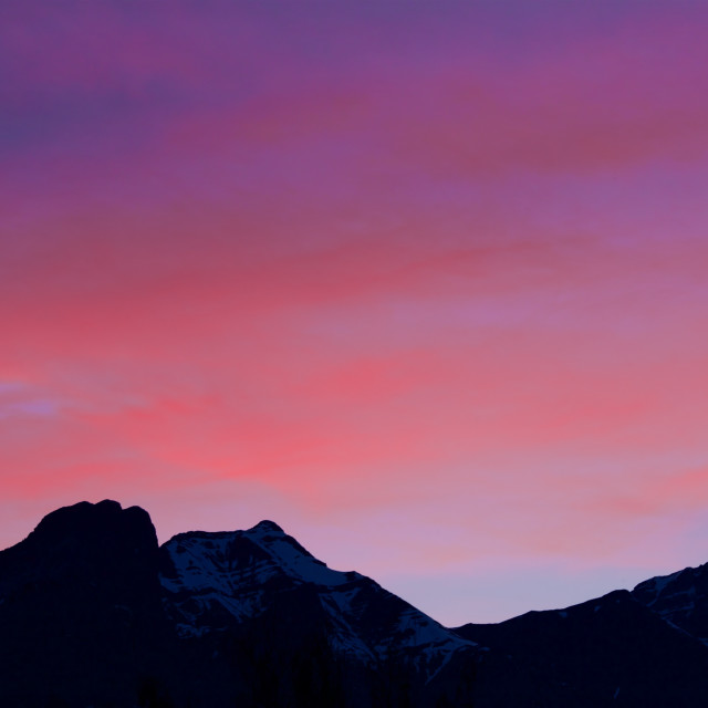 """Canmore's colours"" stock image"