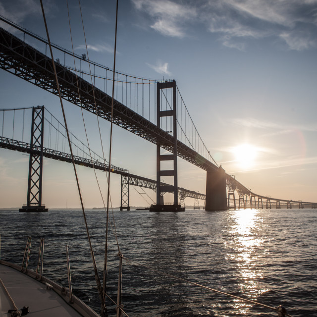 """Chesapeake Bay Bridge"" stock image"