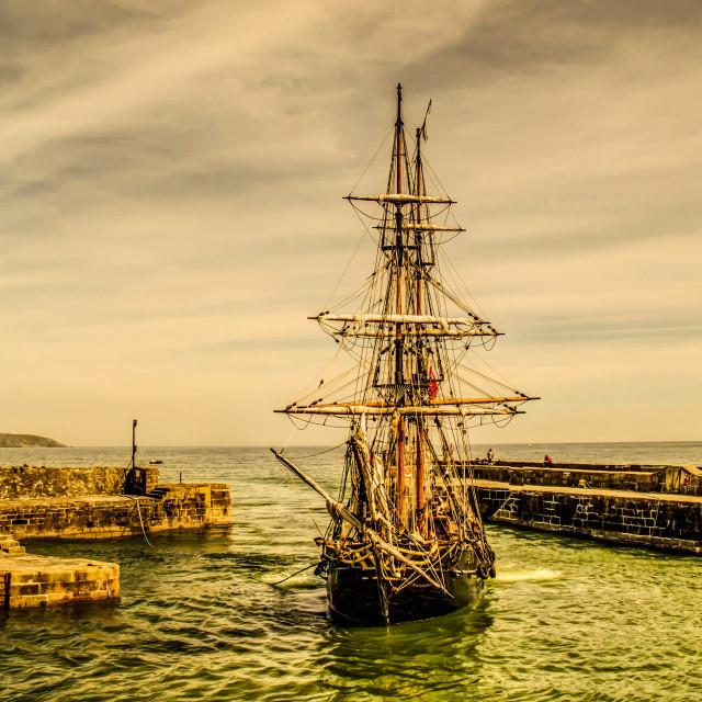 """Charlestown Harbour."" stock image"