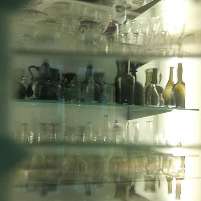 """Reflections - bottles"" stock image"