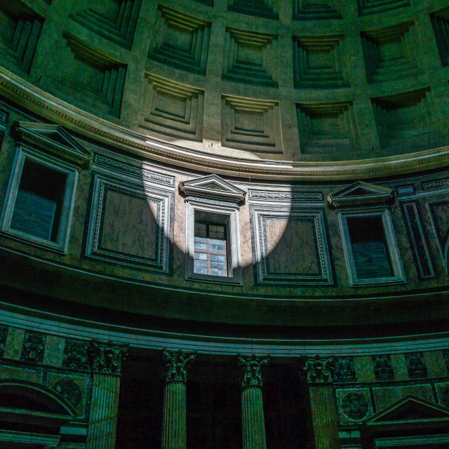 """Pantheon oculus light"" stock image"