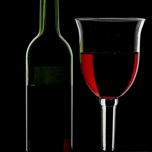 """""""Bottle and Glass."""" stock image"""