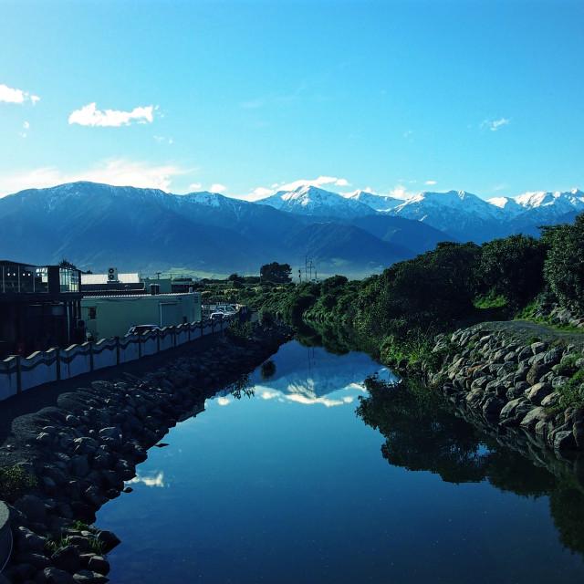 """Kaikoura's Lyell Creek"" stock image"