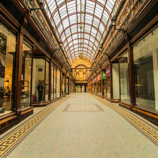 """Central Arcade, Newcastle"" stock image"