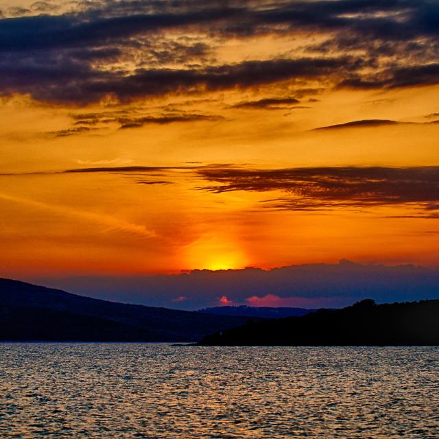 """Sunset in Croatia"" stock image"