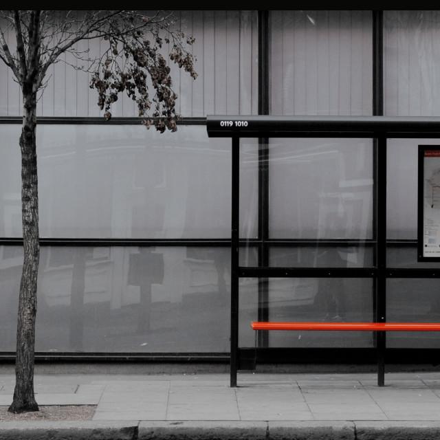 """Bus stop"" stock image"