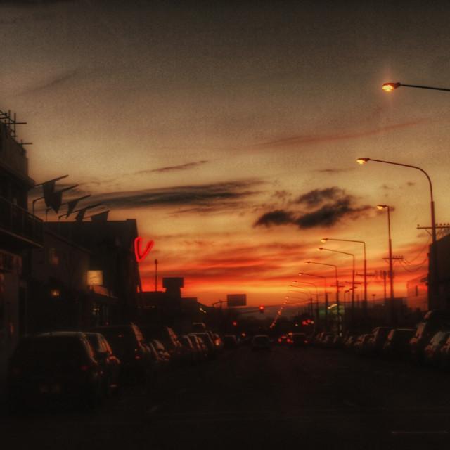"""Christchurch Twilight"" stock image"