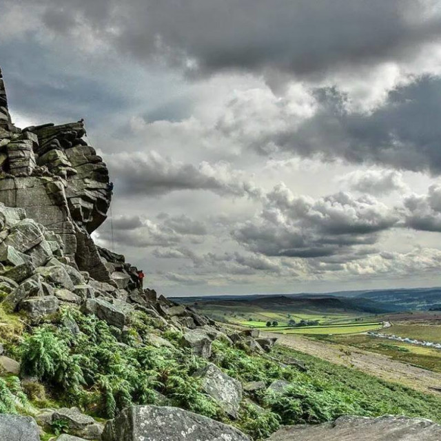 """Stanage Edge"" stock image"