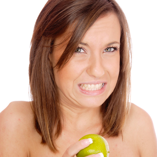 """""""The sour flavor of the lime"""" stock image"""