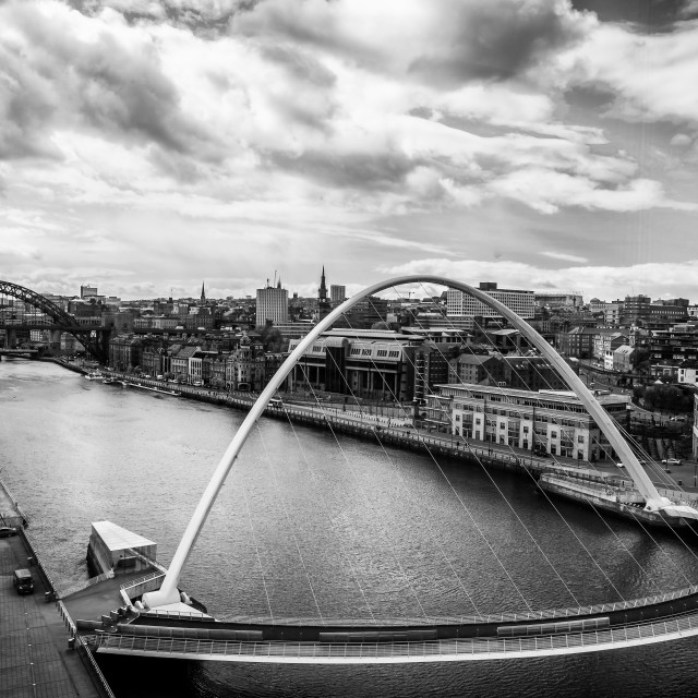 """Newcastle quayside from the Baltic"" stock image"