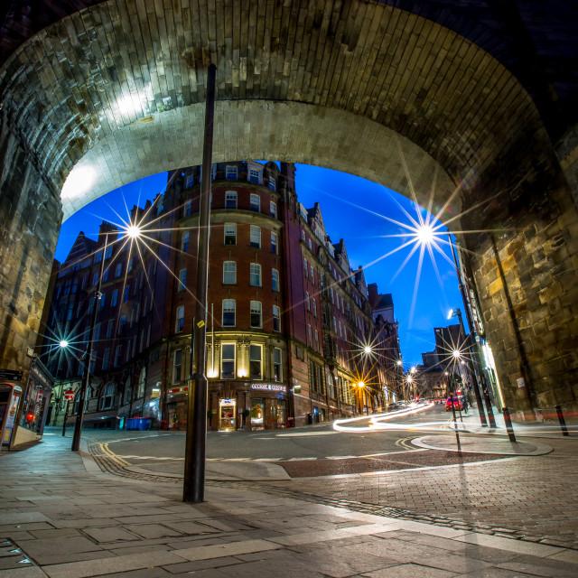 """Dean Street, Newcastle upon Tyne"" stock image"
