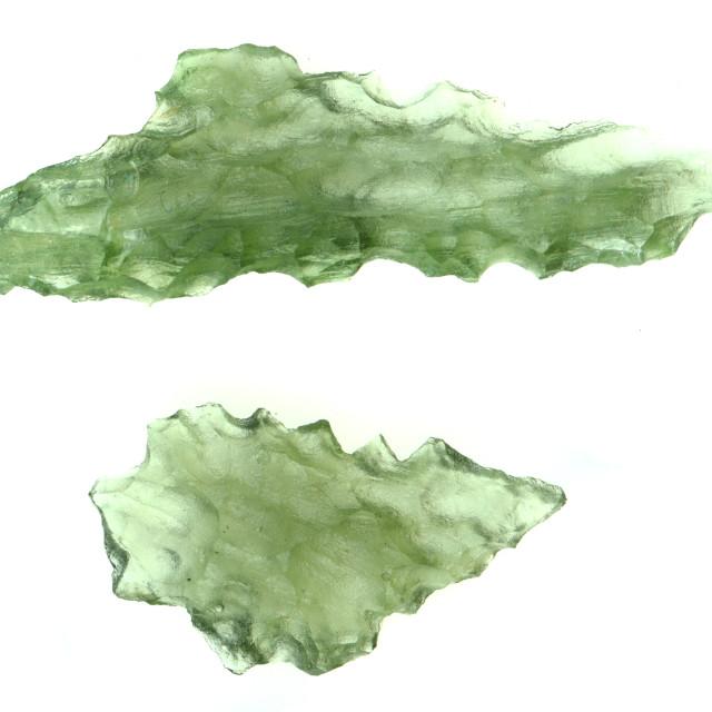 """green moldavite minerals"" stock image"