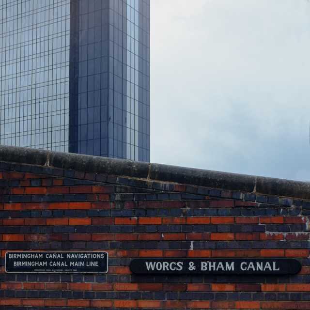 """Birmingham Canal Signs"" stock image"