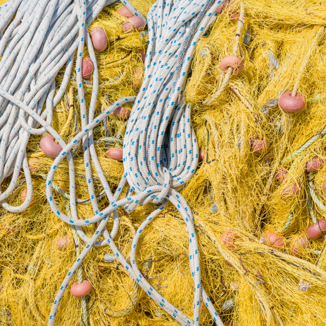"""""""fishing nets with floats"""" stock image"""