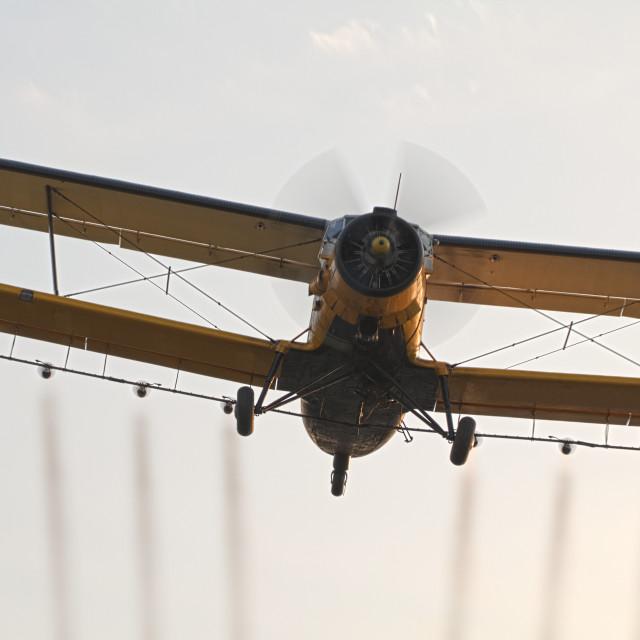 """Mosquito Spraying Plane"" stock image"