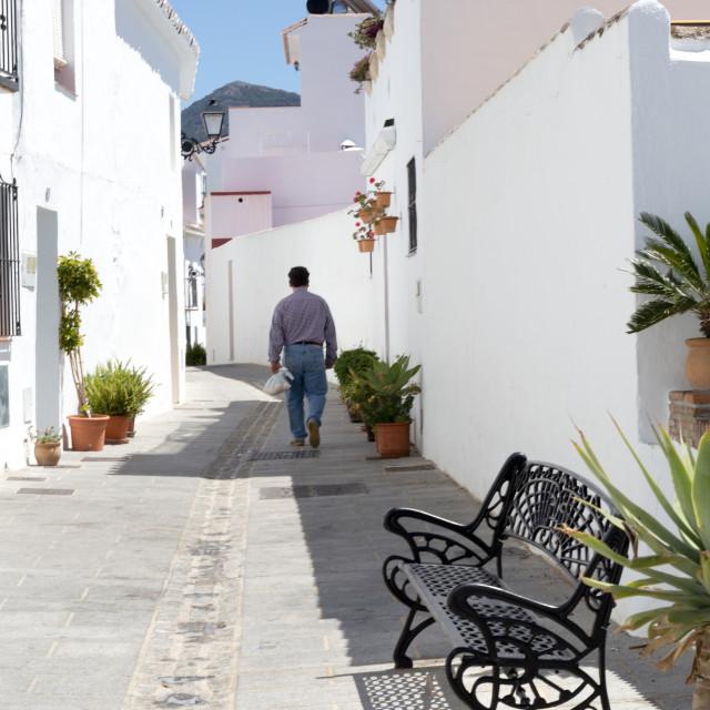 """""""Mijas street, Spain"""" stock image"""