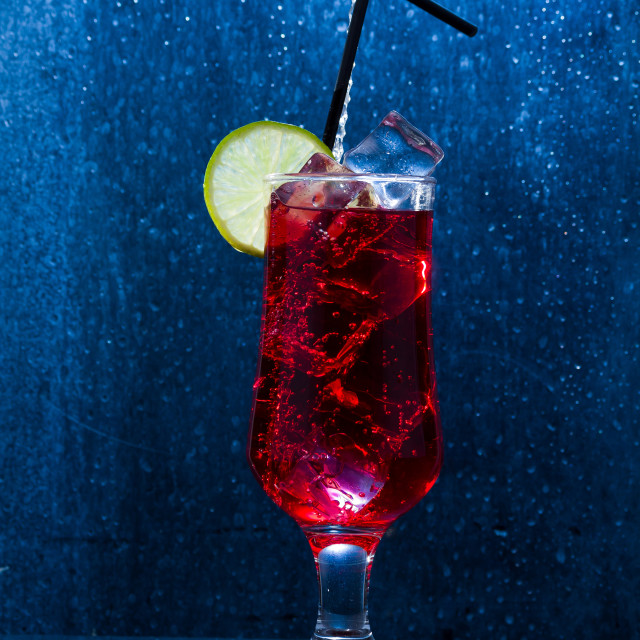 """""""Energy drink cocktail with lime"""" stock image"""