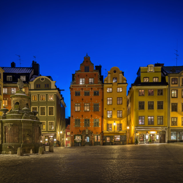 """Stortorget, Old Town of Stockholm."" stock image"
