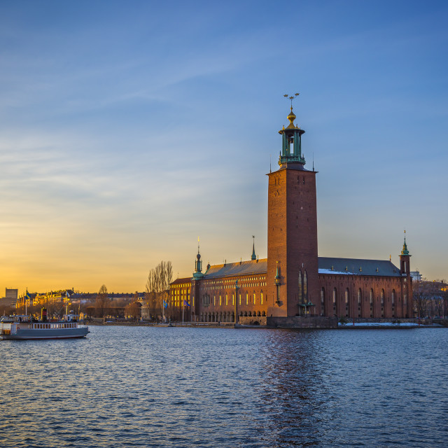 """Stockholm City Hall."" stock image"