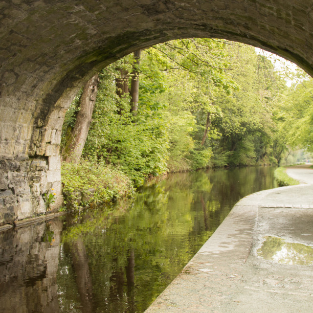 """Tranquil Towpath"" stock image"