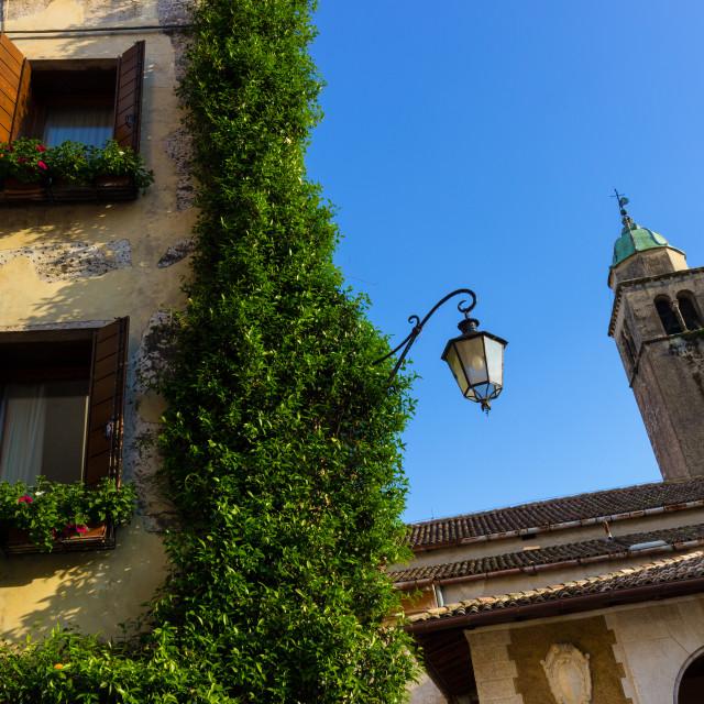 """Glimpse of a picturesque italian village"" stock image"
