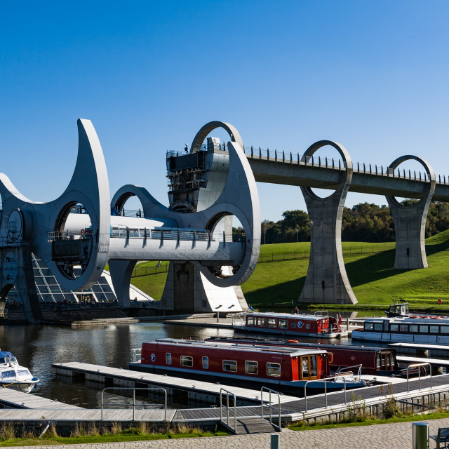 """Falkirk Wheel"" stock image"