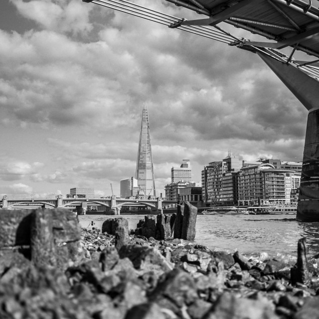 """shard from the thames"" stock image"