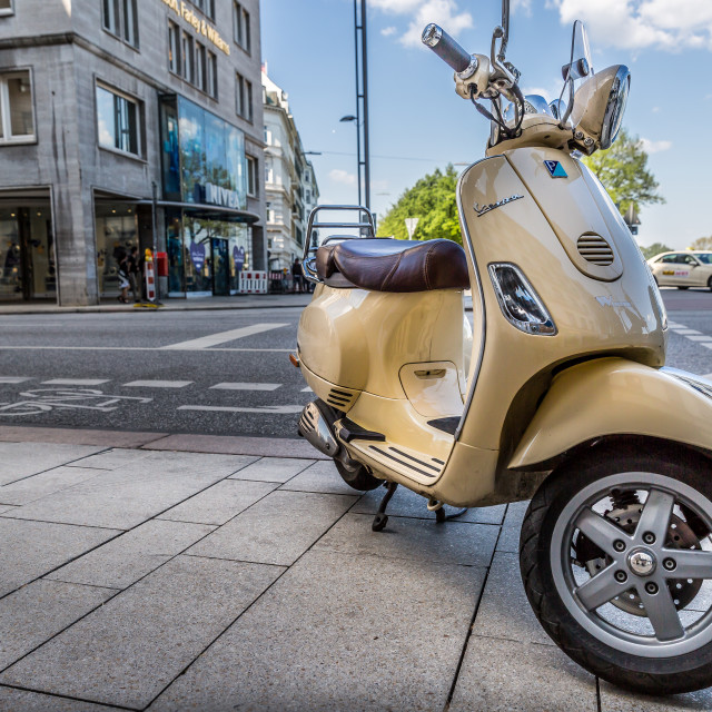 """Vespa motorcycle"" stock image"