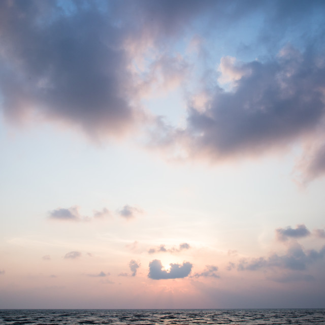 """Sea Sunset"" stock image"