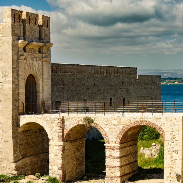 """The castle in Siracusa - Sicily"" stock image"
